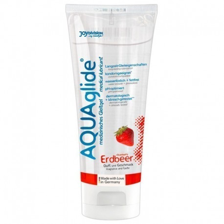 AquaGlide Strawberry 100 ml lubrikantas