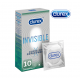 Durex Invisible Close Fit 10 vnt. dėžutė