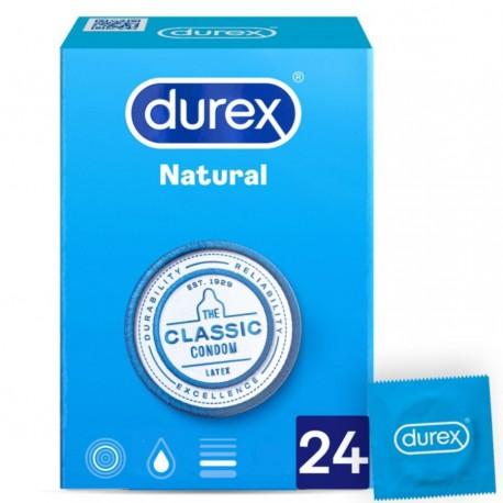 Durex Natural prezervatyvai 24 vnt