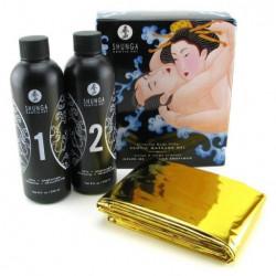 Shunga Erotic Massage Gel Strawberry Wine rinkinys masažui