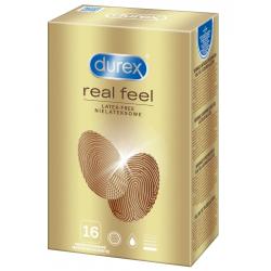 Durex Real Feel 16 vnt. prezervatyvų dėžutė