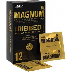 Trojan Magnum Ribbed 12 vnt